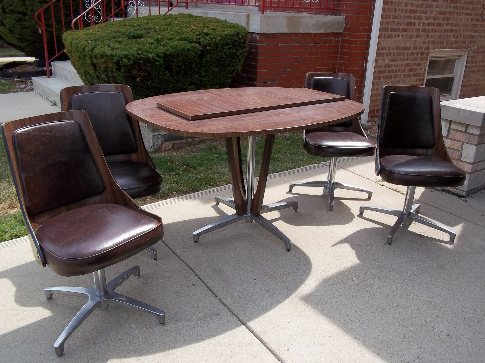 Chromcraft Mid Century Dining Room Kitchen Table Set With