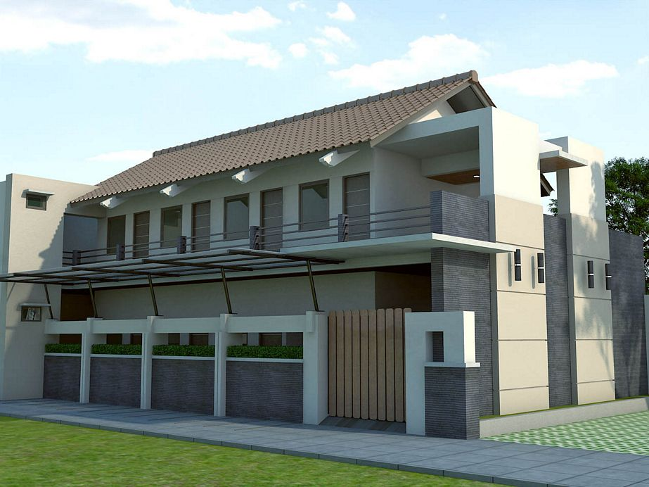rancangan rumah kontrakan modern inspiratif