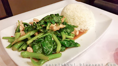 stir fried Chinese broccoli at Nine Elephants