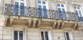 Balcon du 9 boulevard Beaumarchais à Paris