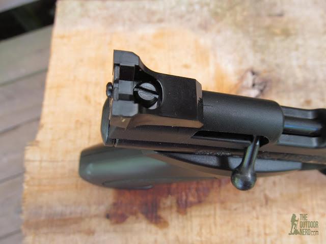 Crosman 1322 Air Pistol - Rear Sights