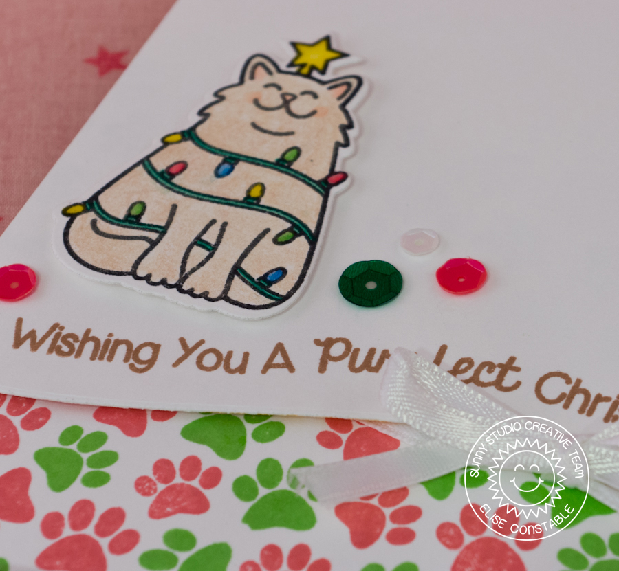 Whimsipost Purrfect Christmas Card