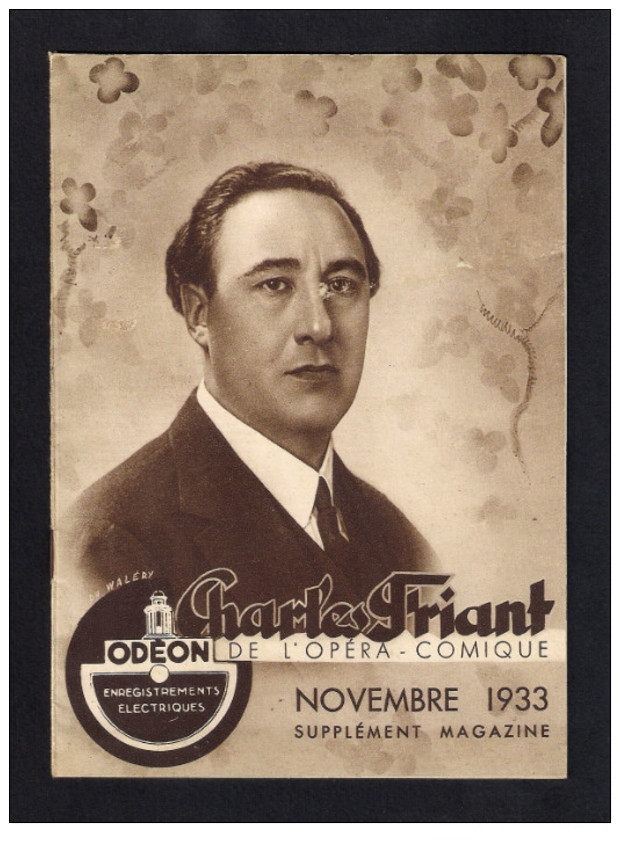 FRENCH TENOR CHARLES FRIANT (1890 - 1947) ODEON RECORDINGS CD