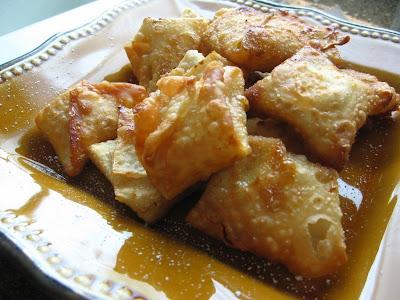 Honey Cream Cheese Wontons
