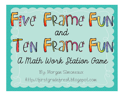 Five Frame Math Template http://firstgradefresh.blogspot.com/2011/08/five-and-ten-frame-fun-for-workstations.html