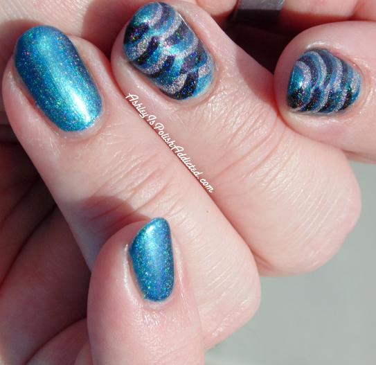 Ashley Is Polishaddicted 40 Great Nail Art Ideas Teal Fishtail