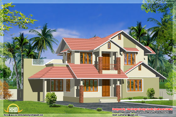 3 different indian house elevations kerala home design for Different elevations of house