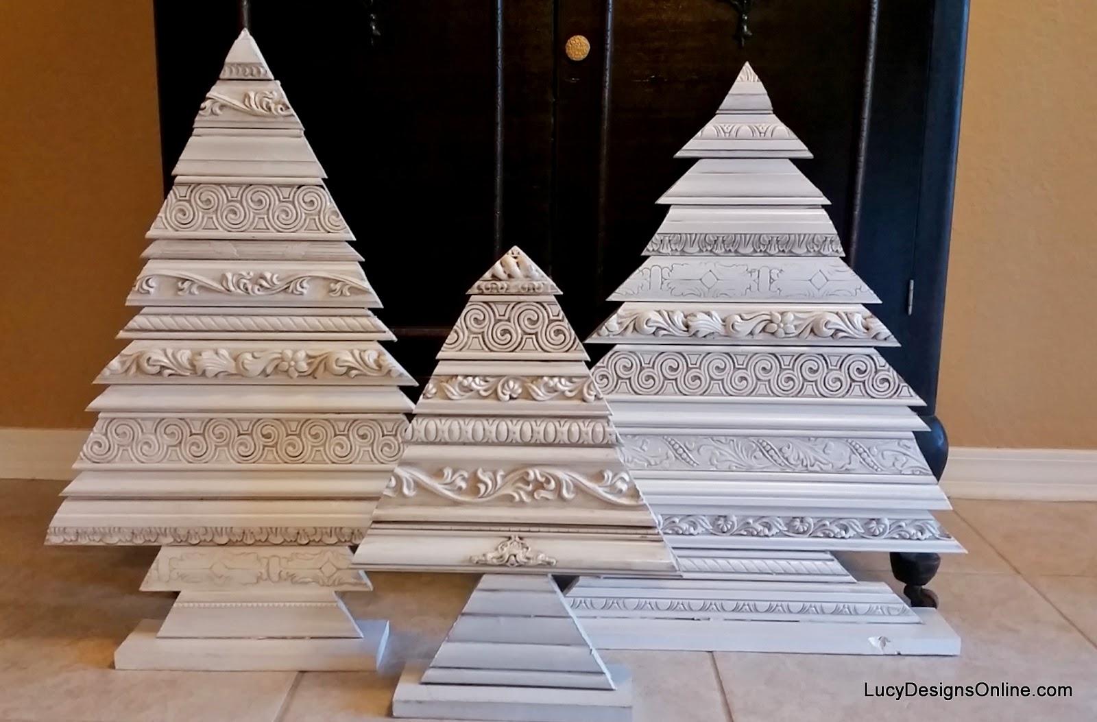 alternative christmas tree set, wood art tree sculptures using