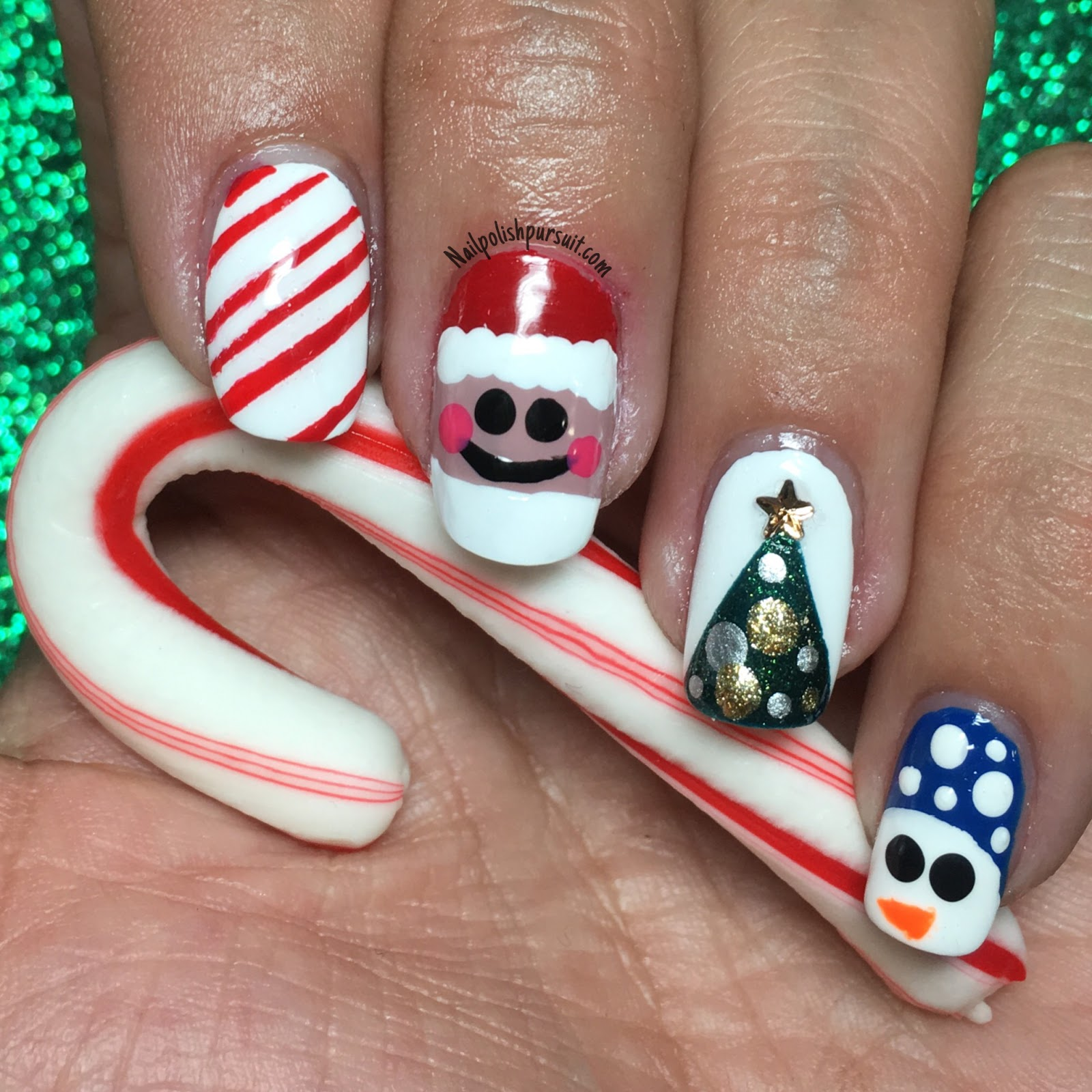 Christmas Nail Designs Tutorial: KellieGonzo: Guest Post By Nail Polish Pursuit: Christmas