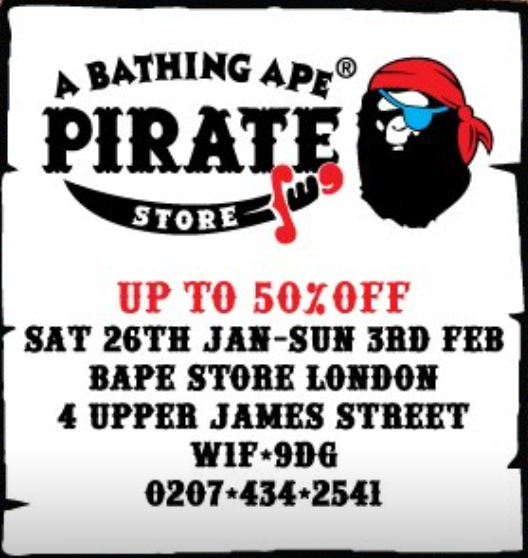 bd7aa7161349 A BATHING APE PIRATE STORE - London On The Inside