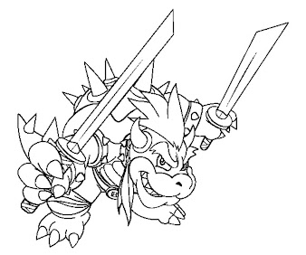 #11 Bowser Coloring Page