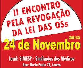 2º ENCONTRO PELA REVOGAÇÃO DA LEI DAS ORGANIZAÇÕES SOCIAIS