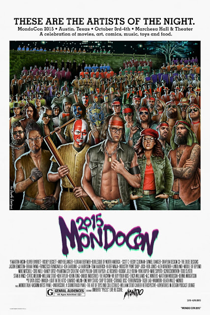 "MondoCon 2015 ""These Are The Artists Of The Night"" The Warriors Poster by The Dude Designs"