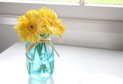 Colored Mason Jar Tutorial