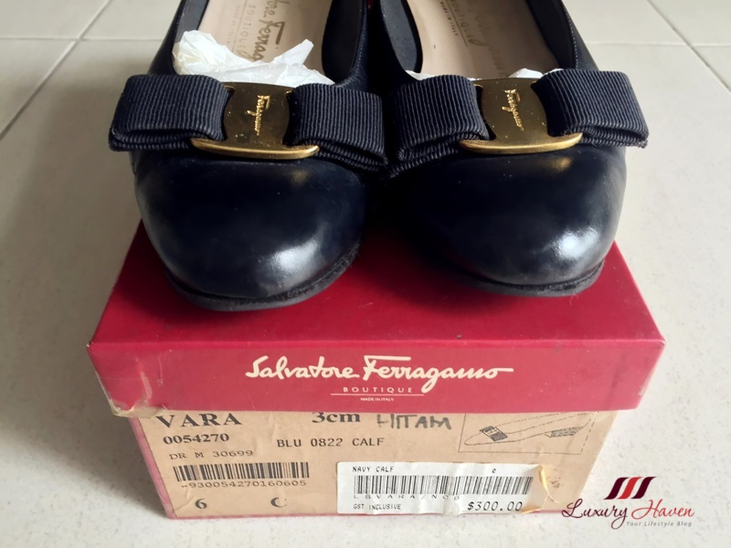 salvator ferragamoe vara pumps blu calf