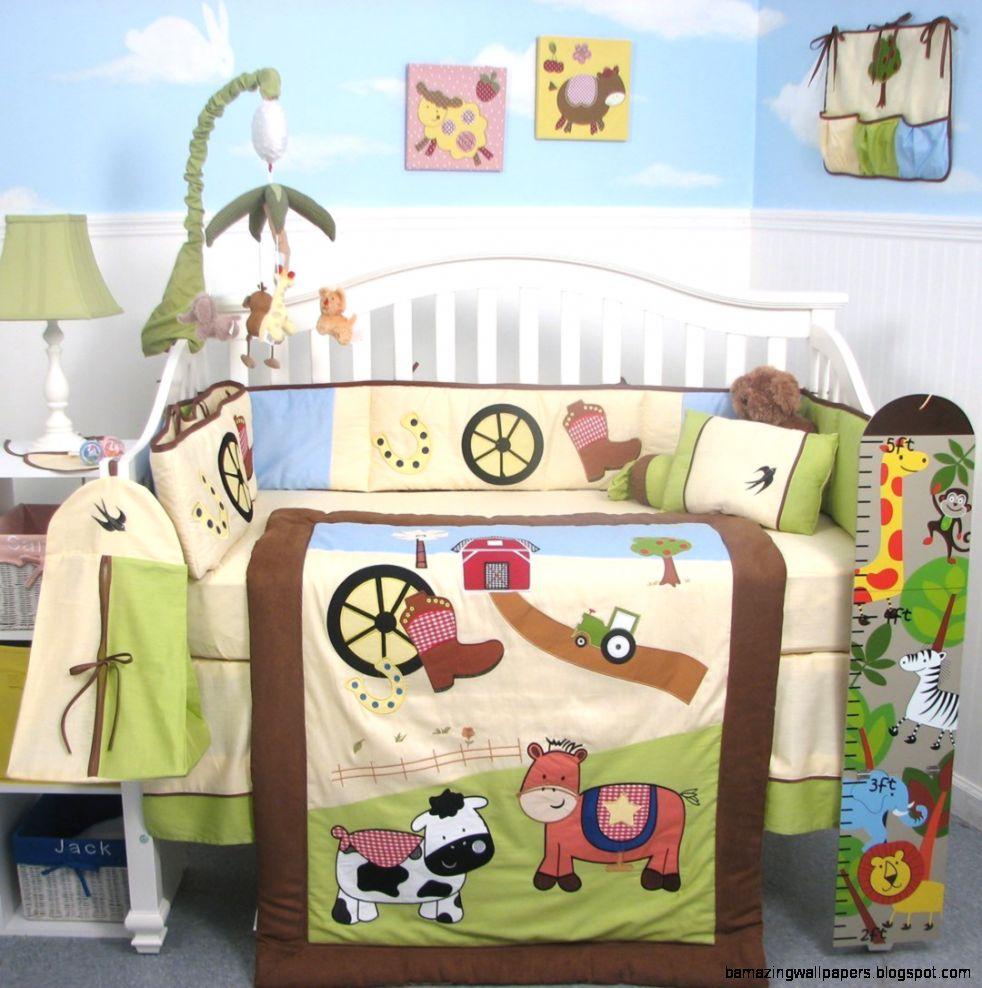 Boutique Baby Boy Farmland Ranch Baby Crib Nursery