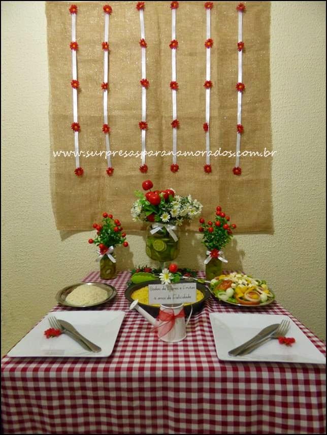 jantar e decoração