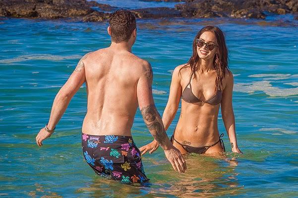 Megan Fox and Brian Austin Green in Hawaii