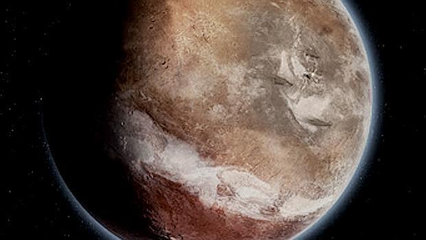 La superficie de Marte está inclinada entre 20 y 25 grados