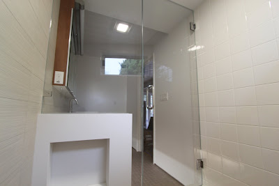 Modern frameless shower doors