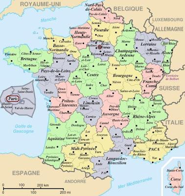 France Carte Ville