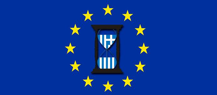 Ampulheta com bandeira da Grécia