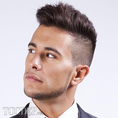 tóc cao gọn gàng - kiểu tóc nam đẹp 2013