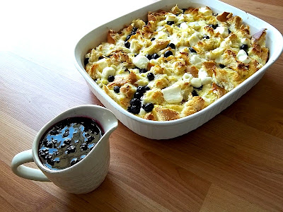 Blueberry Citrus Casserole #breakfast frugalanticsrecipes.com