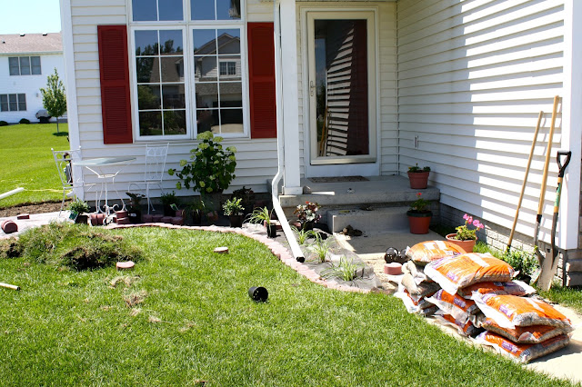 Big Brother Backyard Bbq : And the landscaping we did in 2011, the summer Kerigan was born