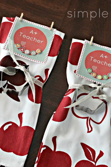 Free Printable: A+ Teacher Tag  #teachergift #teacher