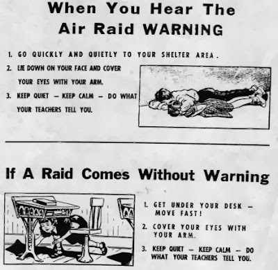 Duck and Cover, Air Raid training, Canadian Schools