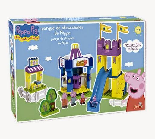 JUGUETES - PEPPA PIG   Parque de Atracciones de Peppa  Juego de construcción | Simba  4465673 | Producto Oficial  A partir de 3 años