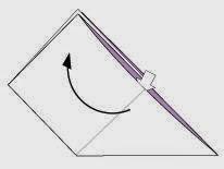 Bước 6: Mở tờ giấy từ mũi tên làm giống như ở bước 3 + bước 4.