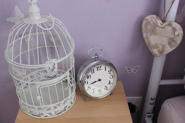 birdcage shabby chic vintage clock