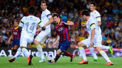 Messi contra Santos - 8 x 0 Barcelona