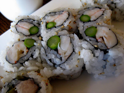 Shrimp Asparagus Roll at Natsumi Restaurant in New York, NY - Photo by Michelle Judd of Taste As You Go