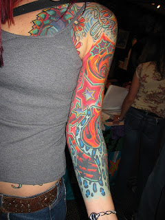 Arm Sleeves tattoo design for Girls