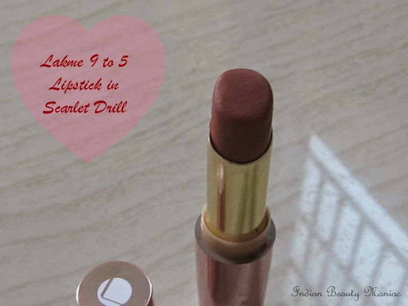 Lakme Nine to five Matte Lip color in Scarlet Drill