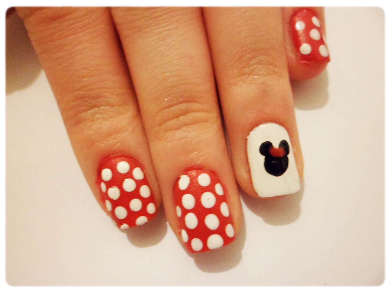 Notd Minnie Mouse Inspired Nail Design