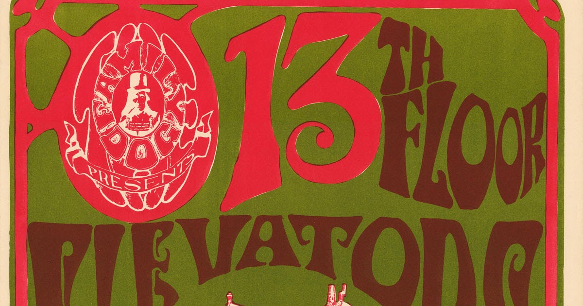 Texas Psych   Psychedelic Music, 13th Floor Elevators, Golden Dawn, Red  Crayola And More!: 13th Floor Elevators Avalon Posters   High Resolution