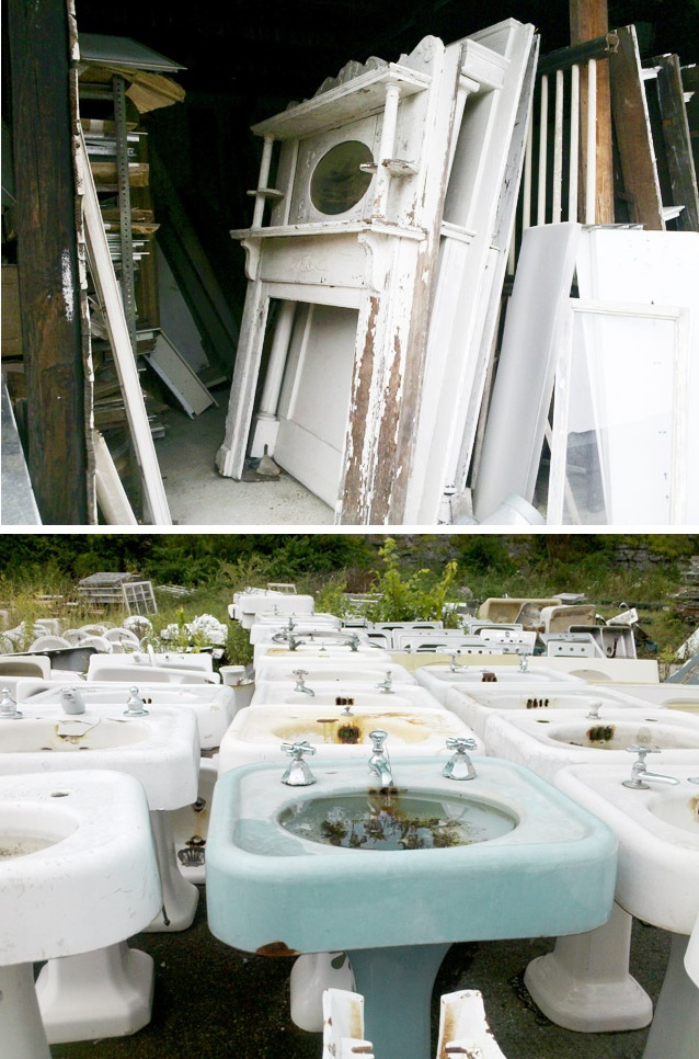 Black And White And Loved All Over Salvage Yard Style