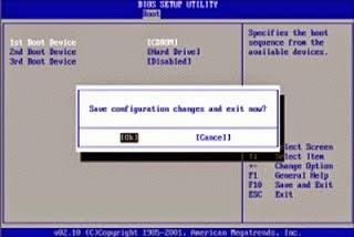 cara terbaru setting bios ke cdrom untuk install ulang windows