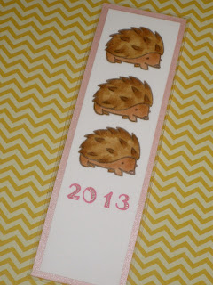 fresh crafts blog: Lawn Fawn hedgehog bookmark