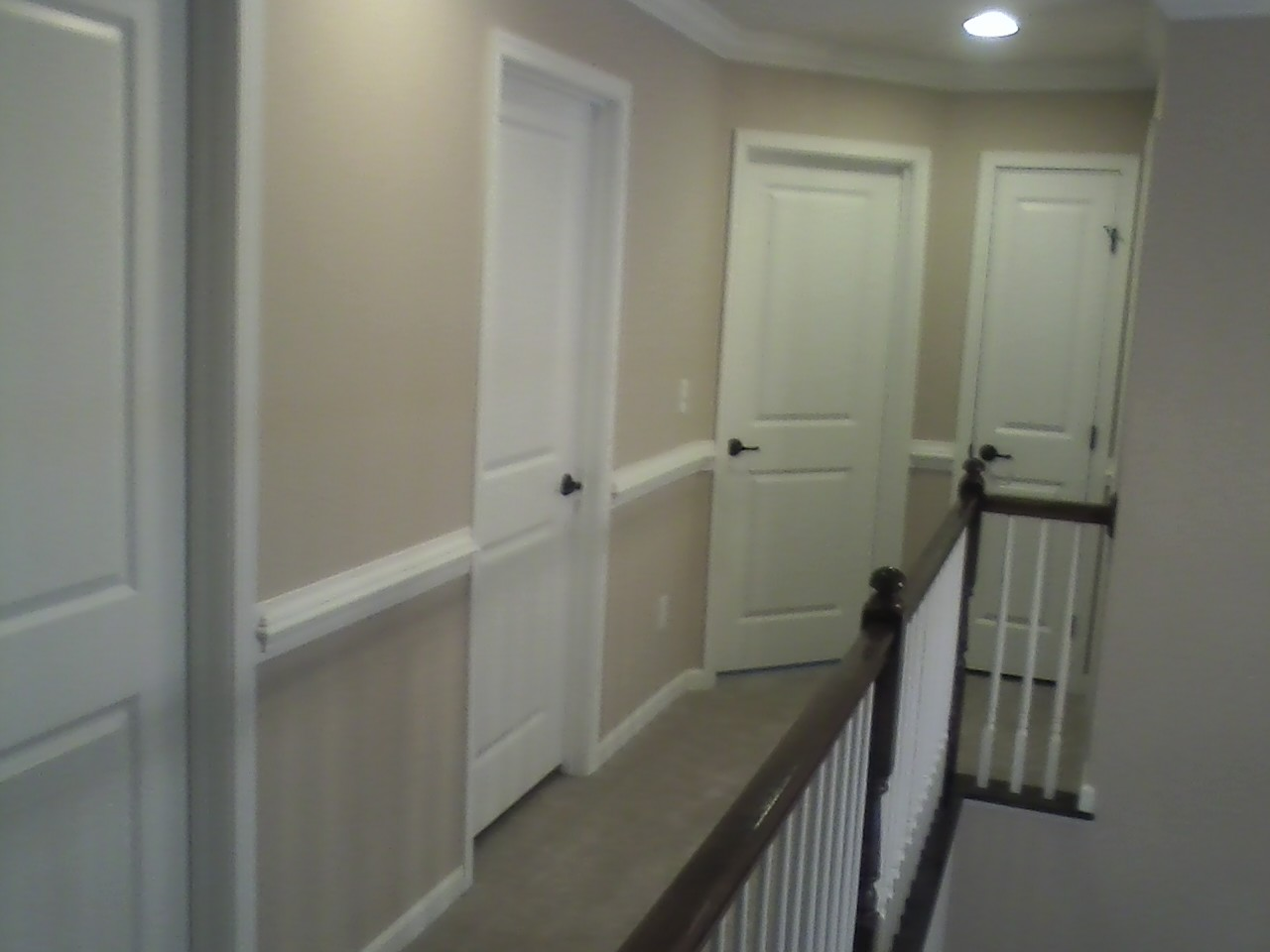 Superieur We Decided To Try Our Hand At Chair Rail In The Upstairs Hallway, Going  Down The Stairs Case Wall And Into The Foyer, We Finished The Upstairs, ...