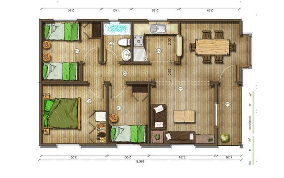 Dise os de casas planos gratis plano de casas gratis 65 m2 - Diseno de planos de casas ...