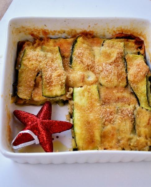 parmigiana di zucchine, scamorza affumicata e peperoncino almicroonde