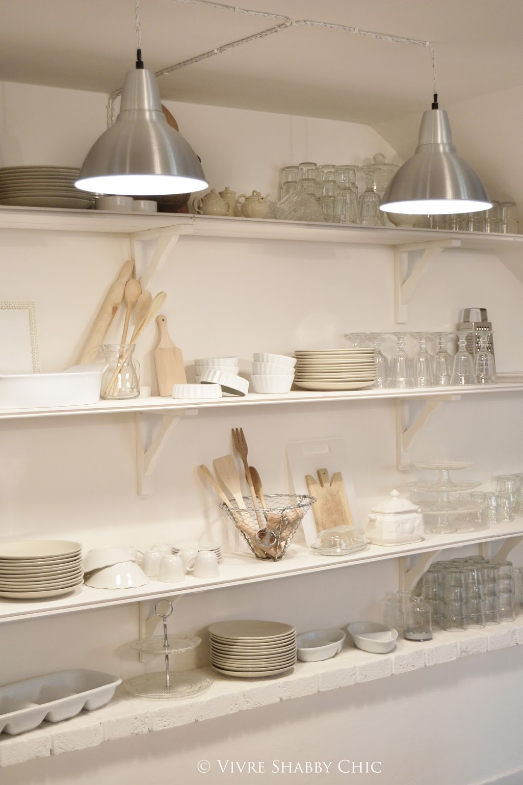 Vivre shabby chic un tocco di stile industriale nuove lampade in cucina - Antifurti per la casa ...
