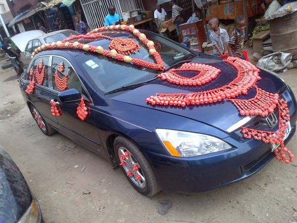 wedding car royal beads lagos