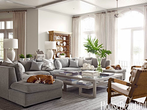 Mix and chic home tour a sophisticated florida home for Gray and white family rooms