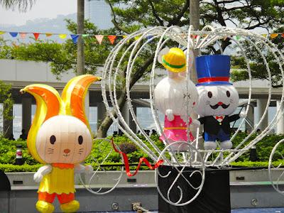 Cute bunnies exhibition at Tsim Sha Tsui Hong Kong
